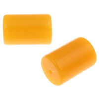 Imitation Amber Resin Beads, Column, imitation beeswax, yellow, 32x22mm, Hole:Approx 3mm, Approx 35PCs/Bag, Sold By Bag