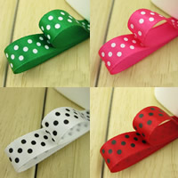 Polyester Ribbon, with round spot pattern, more colors for choice, 9mm, Sold By m