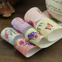 Polyester Ribbon, with butterfly pattern & with letter pattern & with flower pattern, more colors for choice, 25mm, Sold By m