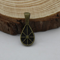 Brass Glue On Bails, Teardrop, antique bronze color plated, 9x20.5x4.5mm, Hole:Approx 2x5mm, Sold By PC