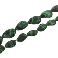 Synthetic Malachite Beads, different size for choice, Hole:Approx 1mm, Length:Approx 15.5 Inch, Sold By Strand