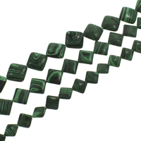 Synthetic Malachite Beads, Rhombus, different size for choice, Hole:Approx 1mm, Length:Approx 15.5 Inch, Sold By Strand