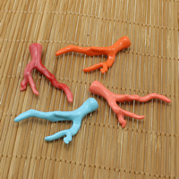 Solid Color Resin Beads, Antlers, half-drilled, more colors for choice, 35x48x9mm, Hole:Approx 1mm, Sold By PC