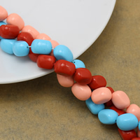 Solid Color Resin Beads, Oval, more colors for choice, 11.5-12x8x7.5-8mm, Hole:Approx 1mm, Length:Approx 15 Inch, Approx 34PCs/Strand, Sold By Strand