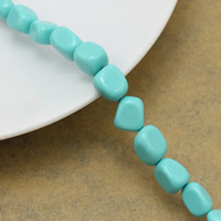 Solid Color Resin Beads, Oval, light blue, 8-10x6.5-8x5-7mm, Hole:Approx 1mm, Length:Approx 16 Inch, Approx 42PCs/Strand, Sold By Strand