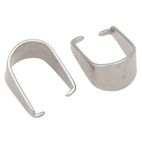 Stainless Steel Pinch Bail, original color, 6.8x13mm, Sold By PC
