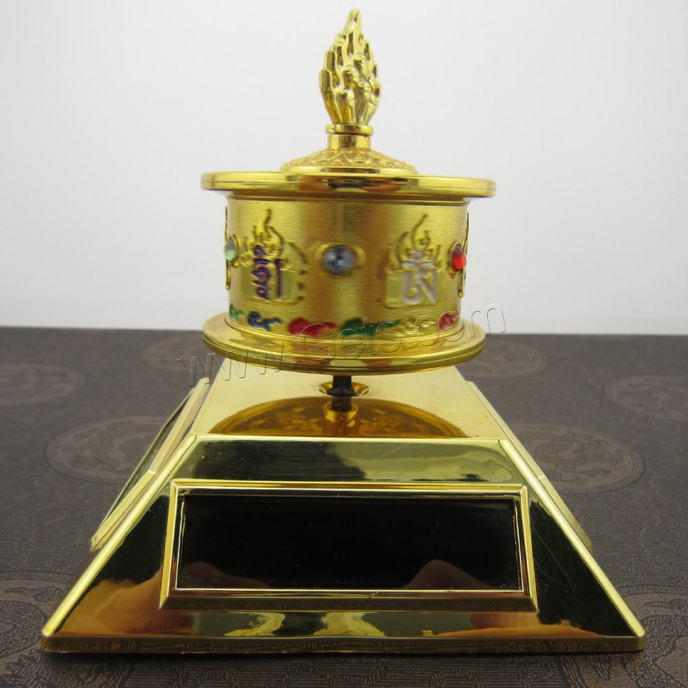 Buddhist gift decoration zinc alloy with plastic gold for Decoration zinc