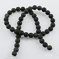 Russian Serpentine Beads, Round, natural, different size for choice & frosted, Hole:Approx 1-2mm, Length:Approx 15 Inch, Sold By Strand