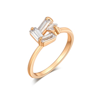 Gets® Finger Ring, Brass, real gold plated, different size for choice & with cubic zirconia & faceted, nickel, lead & cadmium free, 10mm, Sold By PC