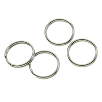 Brass Split Ring, plated, more colors for choice, nickel, lead & cadmium free, 0.7x10mm, Inner Diameter:Approx 8.5mm, 10000PCs/Bag, Sold By Bag