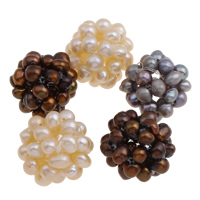 Round Cultured Freshwater Pearl Beads, mixed colors, 20mm, Sold By PC