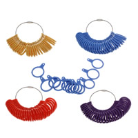 Ring Sizer, Plastic, more colors for choice, 17.5x29x3mm-28x40x3mm, Sold By Set