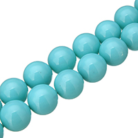 South Sea Shell Beads, Round, different size for choice, blue, Hole:Approx 0.1mm, Length:Approx 16 Inch, Sold By Strand