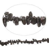 Snowflake Obsidian Bead, Nuggets, 8x10mm-10x20mm, Hole:Approx 0.8mm, Length:Approx 15 Inch, Approx 100Strands/Strand, Sold By Strand