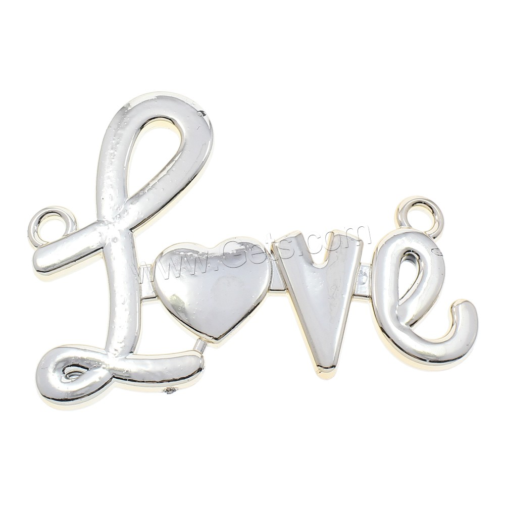 Plated Acrylic Connector Letter Word Love KC Gold Color