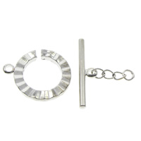 Brass Toggle Clasp, platinum color plated, nickel, lead & cadmium free, 16x19x2mm, 23x5x3mm, Hole:Approx 1.5mm, 100Sets/Bag, Sold By Bag