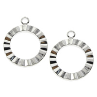Brass Toggle Clasp, Flat Round, platinum color plated, nickel, lead & cadmium free, 16x19x2mm, Hole:Approx 1.5mm, 200PCs/Bag, Sold By Bag