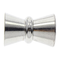 Brass Magnetic Clasp, platinum color plated, 20x14mm, Hole:Approx 4mm, 100PCs/Bag, Sold By Bag