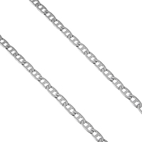 Stainless Steel Mariner Chain, original color, 6x3x0.5mm, Sold By m