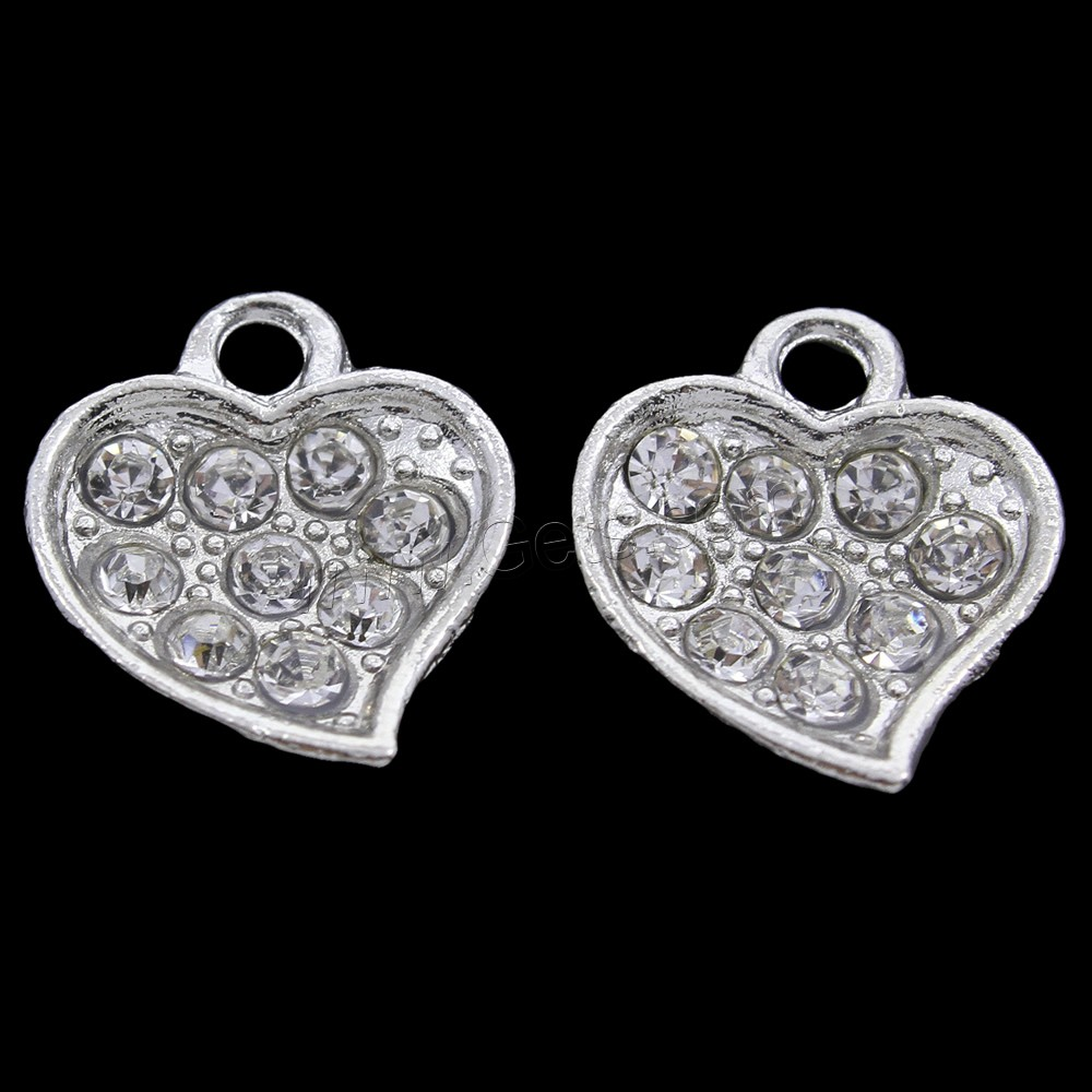 Zinc alloy heart pendants silver color plated with