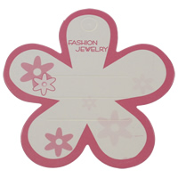 Hair Clip Display Card, Paper, Flower, with letter pattern & two tone, 74mm, 1000PCs/Bag, Sold By Bag