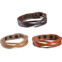 comeon® Jewelry Bracelet, Cowhide, zinc alloy snap clasp, antique bronze color plated, with rivet stud & Unisex & adjustable, more colors for choice, Length:Approx 8.6 Inch, Sold By Strand
