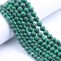 Synthetic Malachite Beads, Round, different size for choice, Hole:Approx 1mm, Length:Approx 15 Inch, Sold By Strand
