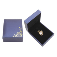 PU Pendant Box, with Cardboard & Velveteen, Rectangle, purple, 69x82x34mm, Sold By PC