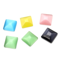 Cats Eye Cabochons, Square, different size for choice & flat back, more colors for choice, 1000PCs/Bag, Sold By Bag