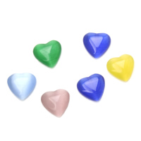 Cats Eye Cabochons, Heart, different size for choice & flat back, more colors for choice, 1000PCs/Bag, Sold By Bag