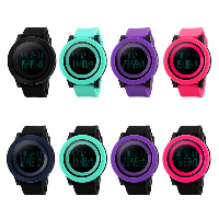 comeon® Unisex Jewelry Watch, Silicone, with Plastic, LED & waterproof, more colors for choice, 52mm, Length:Approx 10.6 Inch, Sold By PC
