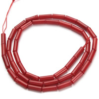 Natural Coral Beads, Column, red, 3x9mm, Hole:Approx 1mm, Length:Approx 15.5 Inch, Approx 45PCs/Strand, Sold By Strand