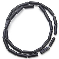 Blue Goldstone Beads, Column, 4x13mm, Hole:Approx 1mm, Length:Approx 15.5 Inch, Approx 30PCs/Strand, Sold By Strand