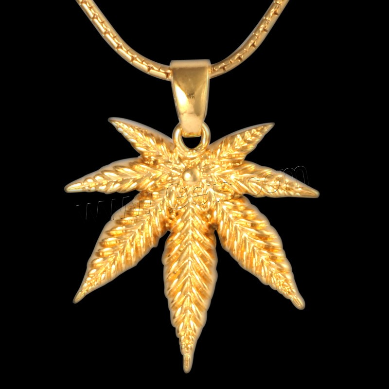 brass leaf pendants maple leaf 18k gold plated lead