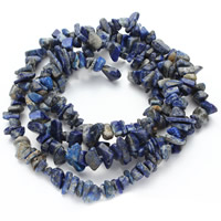 Synthetic Lapis Lazuli Bead, Nuggets, 5-8mm, Hole:Approx 1.5mm, Length:Approx 31 Inch, Approx 120PCs/Strand, Sold By Strand
