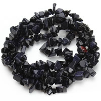 Blue Goldstone Beads, Nuggets, 5-8mm, Hole:Approx 1.5mm, Length:Approx 31 Inch, Approx 120PCs/Strand, Sold By Strand