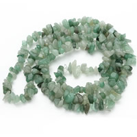Green Aventurine Bead, Nuggets, 5-8mm, Hole:Approx 1.5mm, Length:Approx 31 Inch, Approx 120PCs/Strand, Sold By Strand