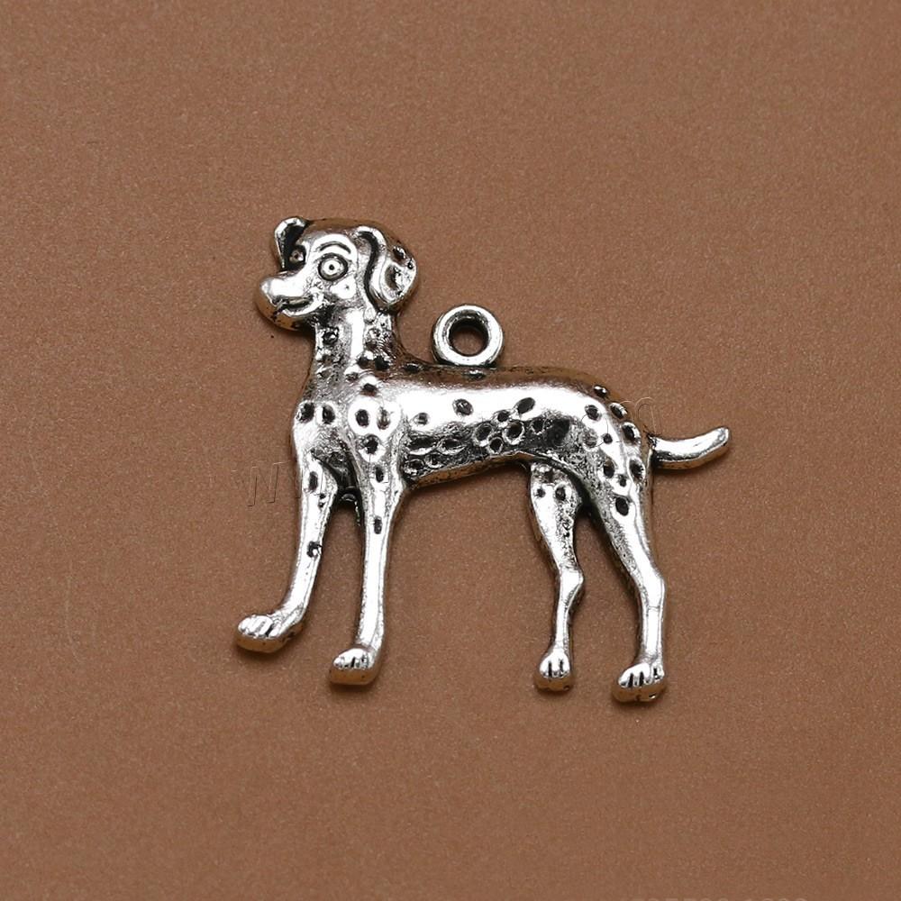 Zinc alloy animal pendants dog antique silver color plated