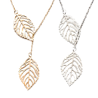 comeon® Jewelry Necklace, Zinc Alloy, with 1.96lnch extender chain, Leaf, plated, oval chain & for woman & hollow, more colors for choice, Length:Approx 19.6 Inch, Sold By Strand