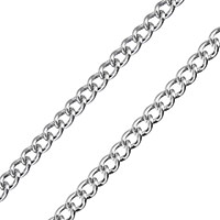 Stainless Steel Oval Chain, twist oval chain, original color, 4x3x1mm, Sold By m