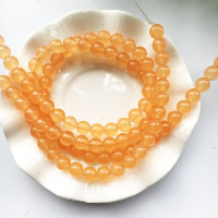 Carnelian Beads, Orange Chalcedony, Round, natural, different size for choice, Hole:Approx 1-2mm, Length:Approx 15 Inch, Sold By Strand