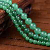 Green Aventurine Bead, Round, natural, different size for choice, Hole:Approx 1-2mm, Length:Approx 15 Inch, Sold By Strand