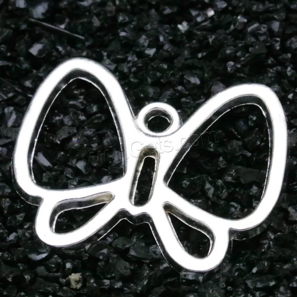 Zinc alloy animal pendants butterfly antique silver color