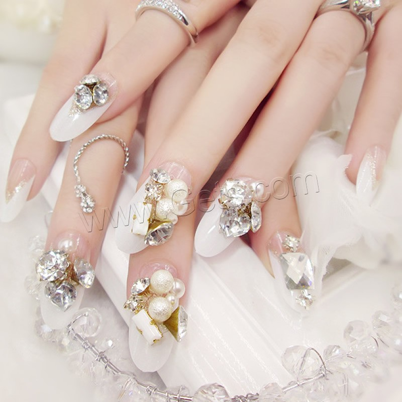 Nail decal pc plastic with nail glue abs plastic pearl for Best glue for pearl jewelry