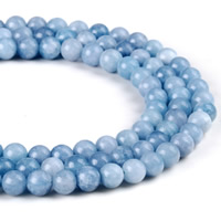 Aquamarine Beads, Round, natural, March Birthstone & different size for choice, Hole:Approx 1mm, Length:Approx 15 Inch, Sold By Strand