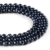 Blue Goldstone Beads, Round, synthetic, different size for choice, Hole:Approx 1mm, Length:Approx 15 Inch, Sold By Strand