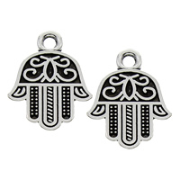 Zinc Alloy Hamsa Pendants, antique silver color plated, lead & cadmium free, 13x18x2mm, Hole:Approx 2mm, Sold By PC