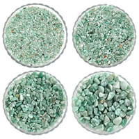Green Aventurine Bead, Nuggets, no hole, 7-11mm, 50G/Bag, Sold By Bag