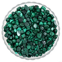 Synthetic Malachite Beads, Nuggets, no hole, 7-11mm, 50G/Bag, Sold By Bag