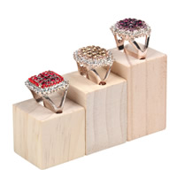 Wood Ring Display, Rectangle, 50x30x30mm, 40x30x30mm, 30x30x30mm, 3PCs/Set, Sold By Set